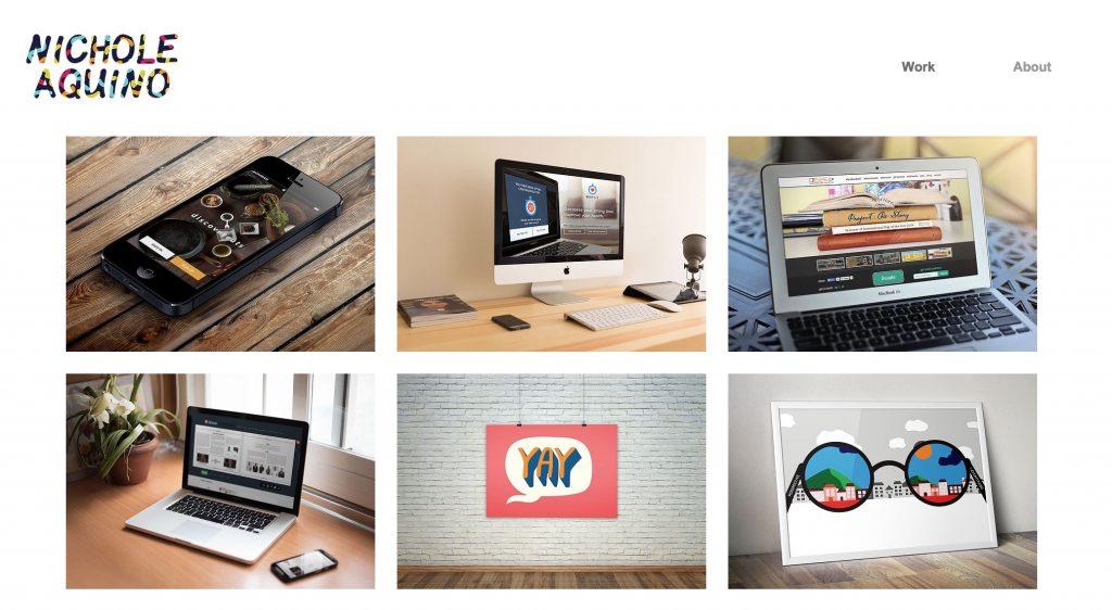 ux portfolio example
